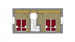 Dvojpodlažný rodinný apartmán V1 s dvoma spálňami - poschodie