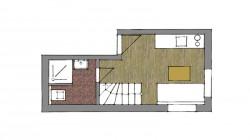 Dvojpodlažný rodinný apartmán V1 s dvoma spálňami - prízemie