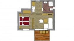 Dvojlôžkový apartmán deluxe s terasou