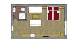 Priestranná dvojlôžková izba 101 s možnosťou prístelky