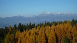 Jeseň na Liptove s panorámou Vysokých Tatier